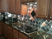 Stainless Steel and Copper Backsplash