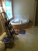 Tile bathroom install